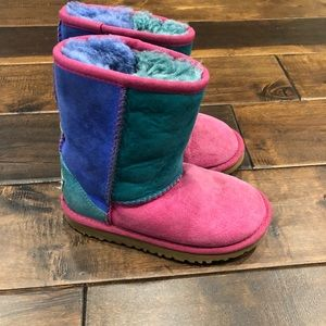 Girls youth size 11 colorful ugg boots